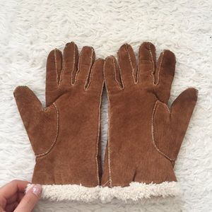 100% genuine leather gloves tan